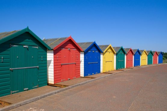 Beach-huts-at-Dawlish-Warren-South-Devon